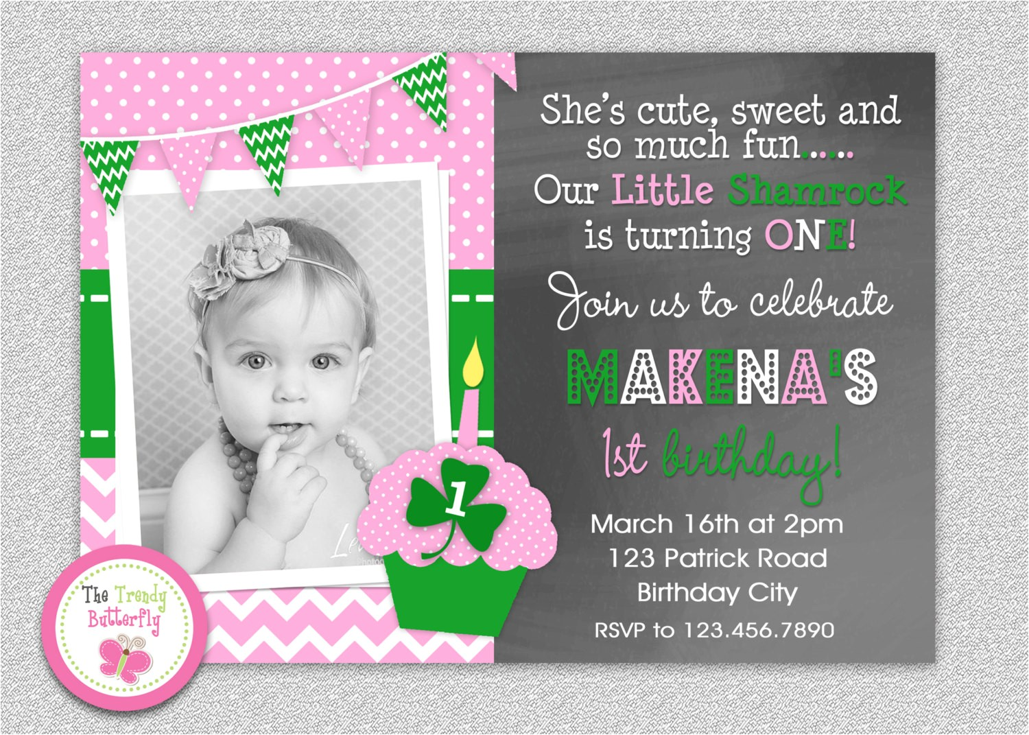 st patricks day birthday invitation st