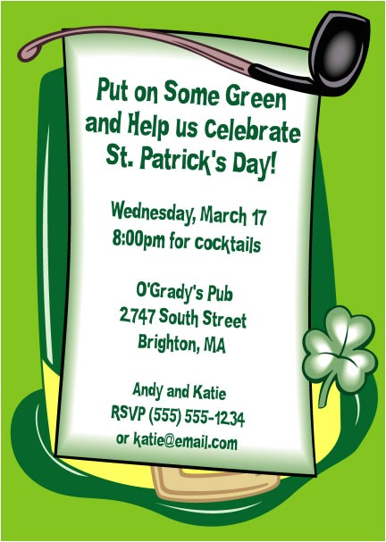 st patrick s day derby invitation