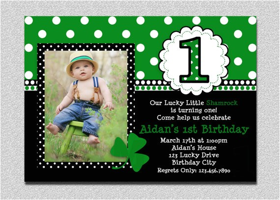 st patricks day birthday invitation 1st