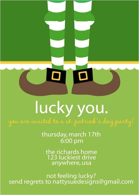 St Patrick S Day Party Invitations St Patrick S Day Party Invitation Love the Dangling Feet