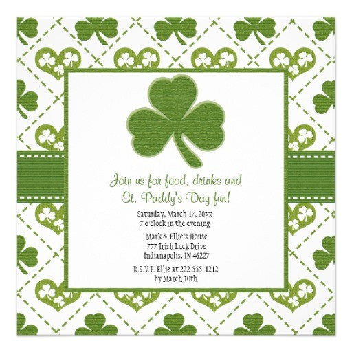 st patricks day party invitations