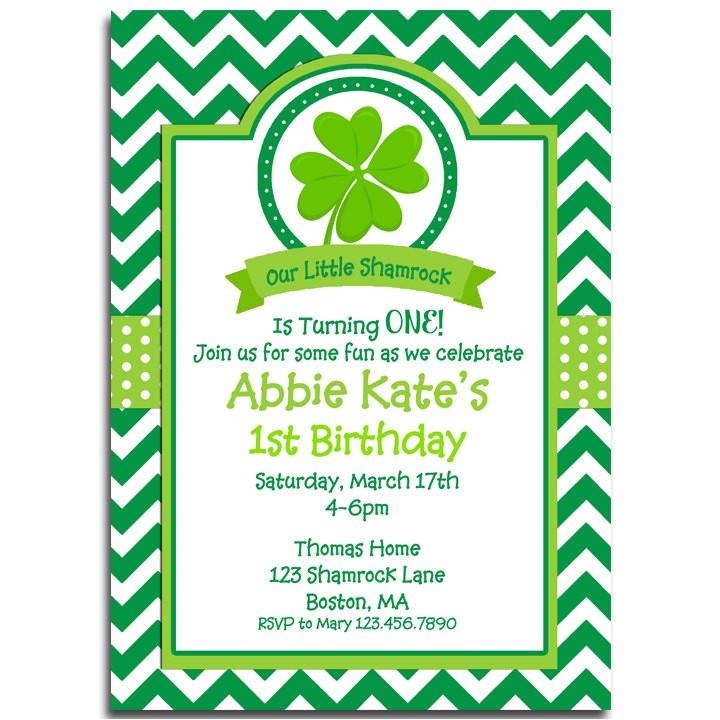 st patricks day invitation printable