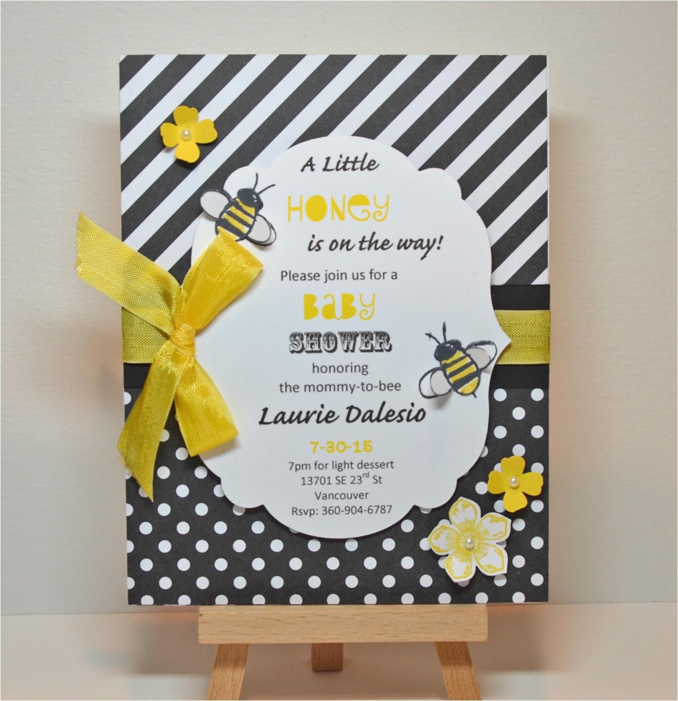 stampin up garden in bloom baby shower invitation