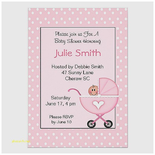 standard baby shower invitation size