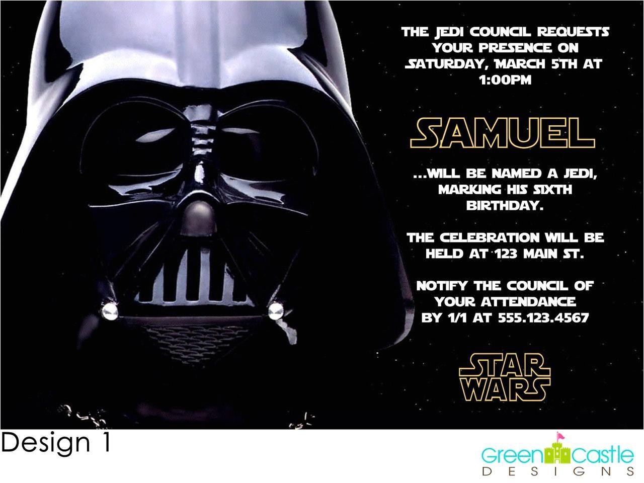 star wars birthday party invitations 2