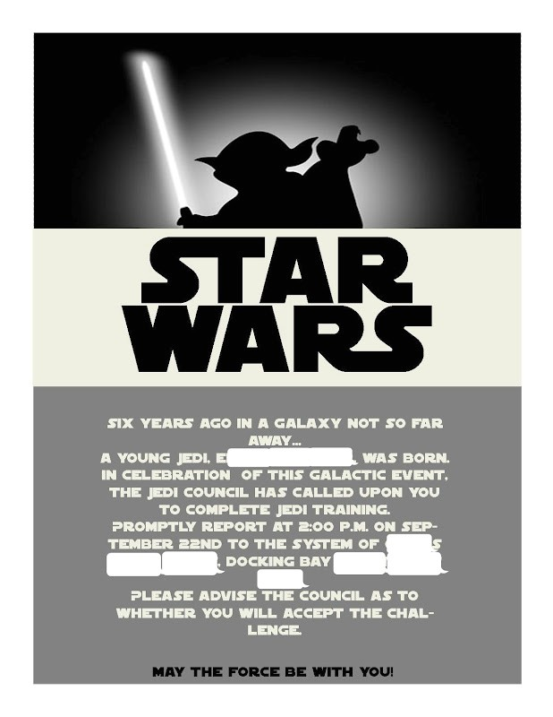 star wars invitation template