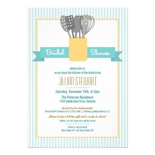 trendy stock the kitchen bridal shower invitations