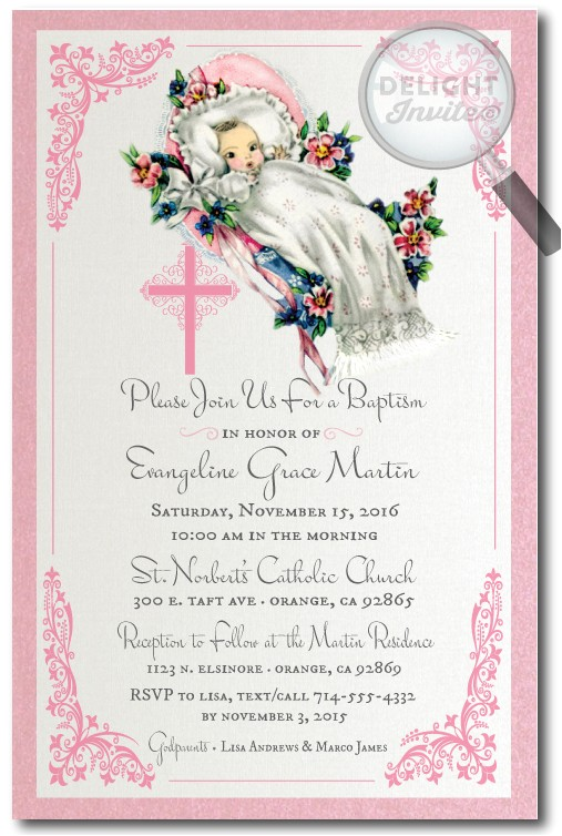baptism and christening invitations delight invite