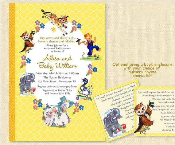 baby shower golden book storybook invites