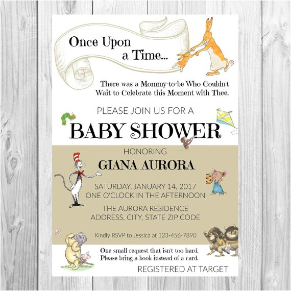 storybook baby shower invitation baby