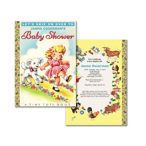 storybook baby shower invitation diy printable