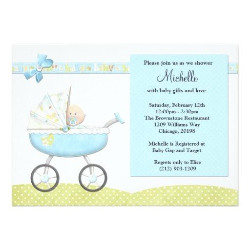stroller baby shower invitation