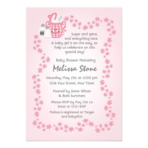 cute sugar spice baby shower invitation