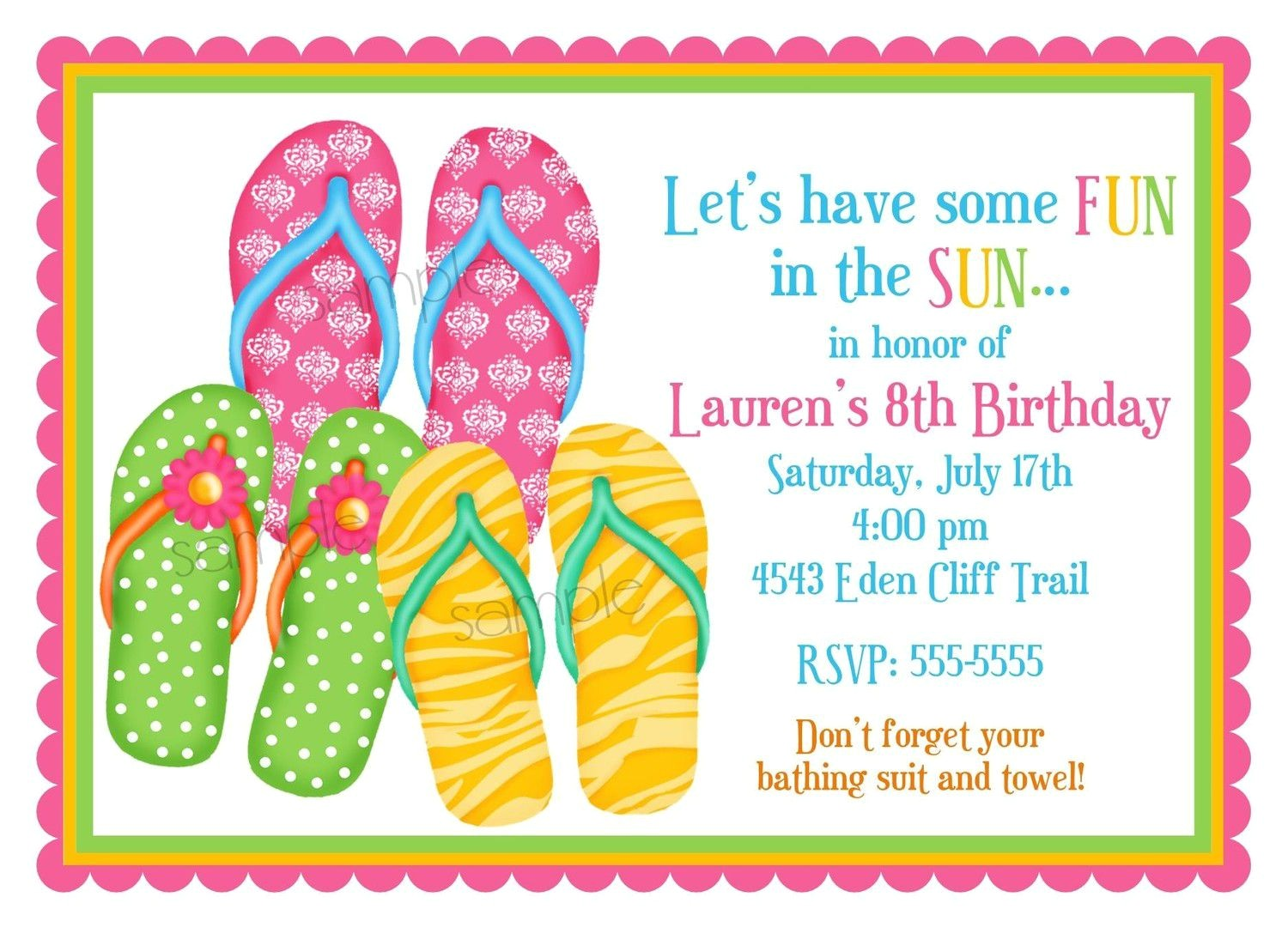 summer party invitations wording