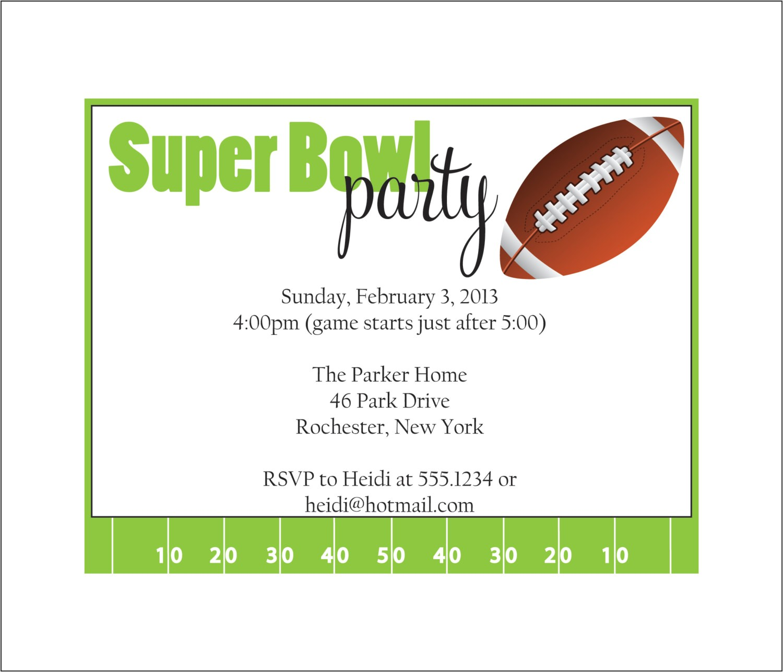 super bowl party invitation set of 10