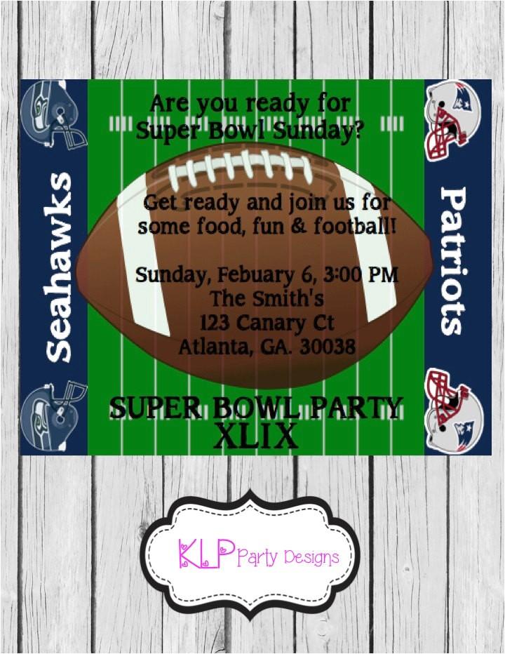 super bowl xlix party invitation