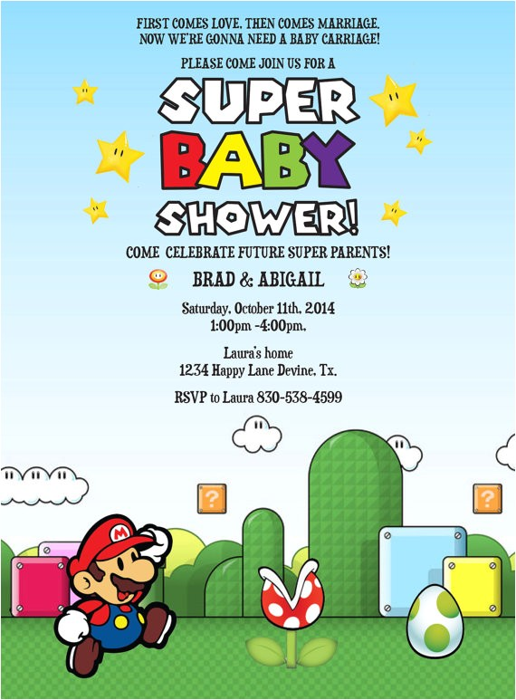 mario birthday baby shower boy