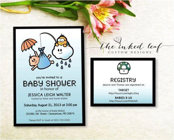 baby shower theme super mario bros