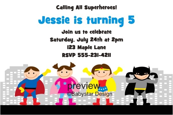 superhero invitations template