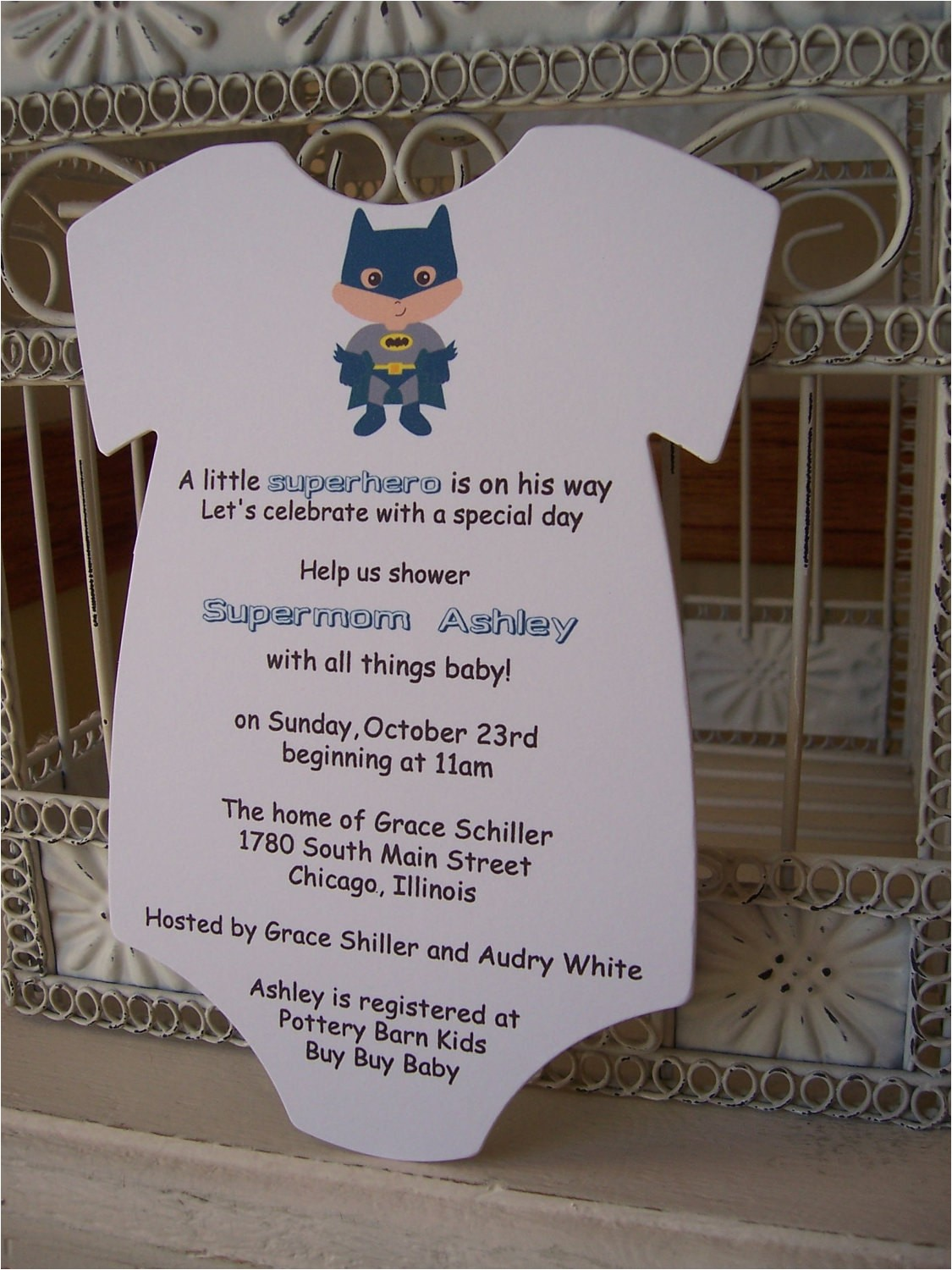 superhero baby shower invitation custom