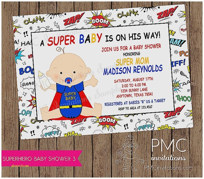 superman baby shower invitations