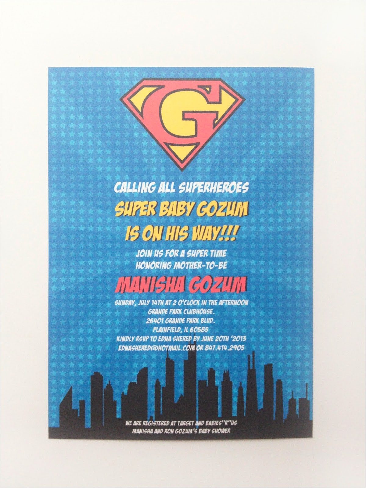 superhero baby shower invitations