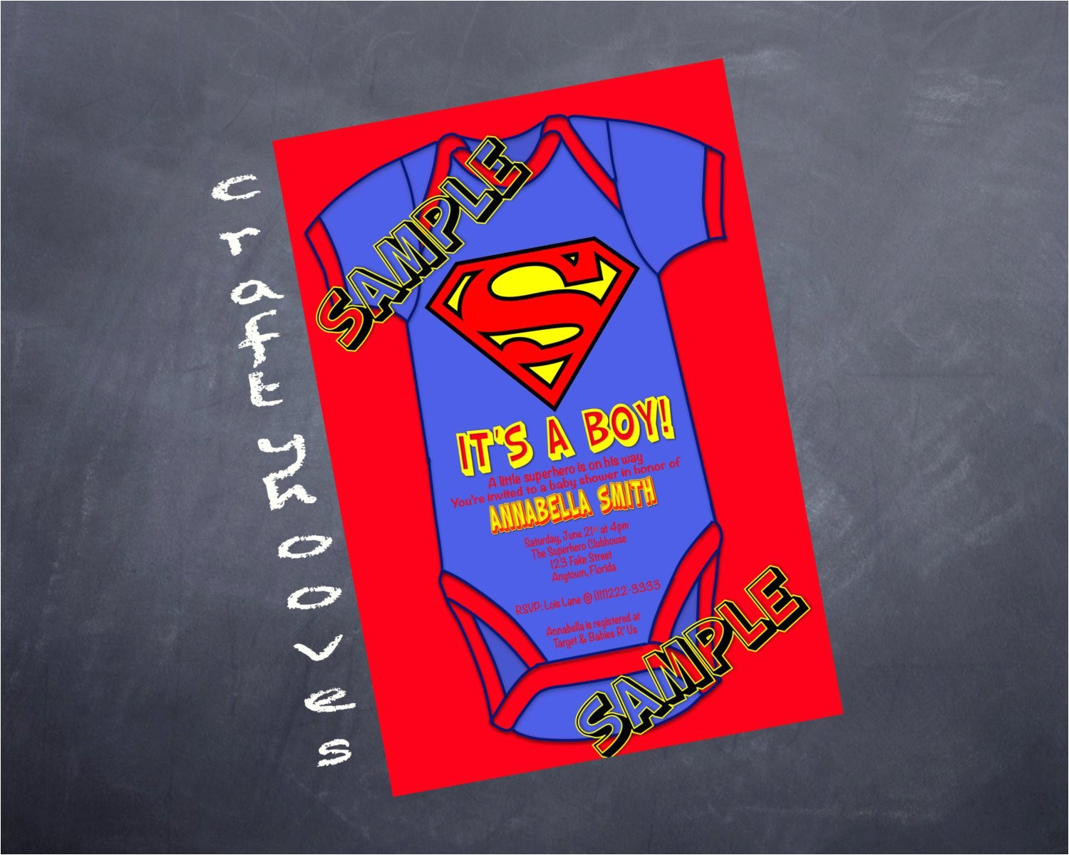 superman invitations for boys