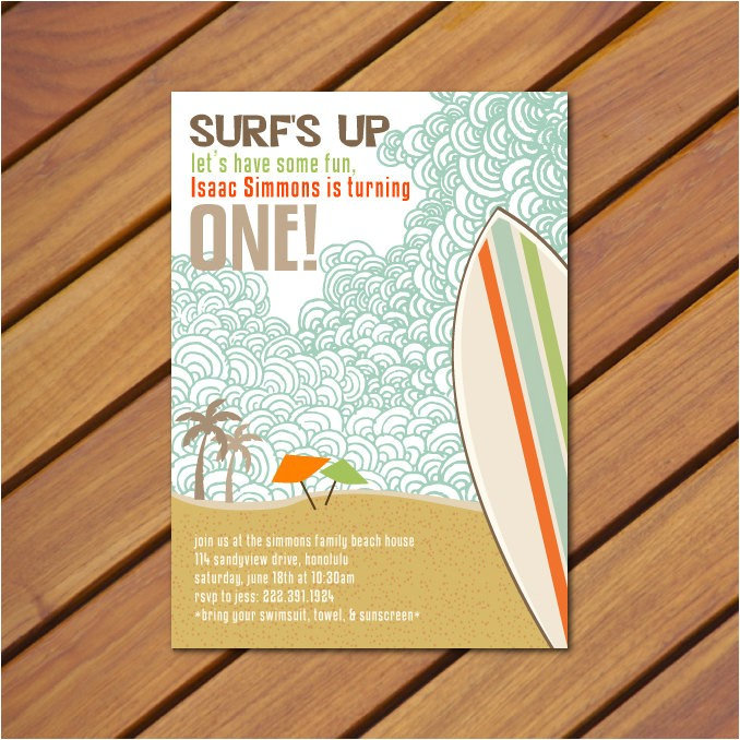 printable vintage beach surf themed