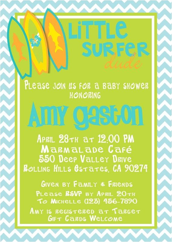 surfs up baby shower