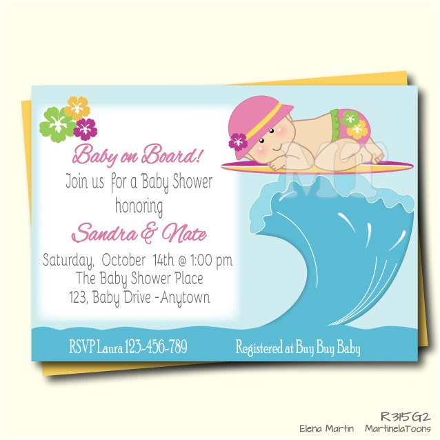 little surfer girl baby shower
