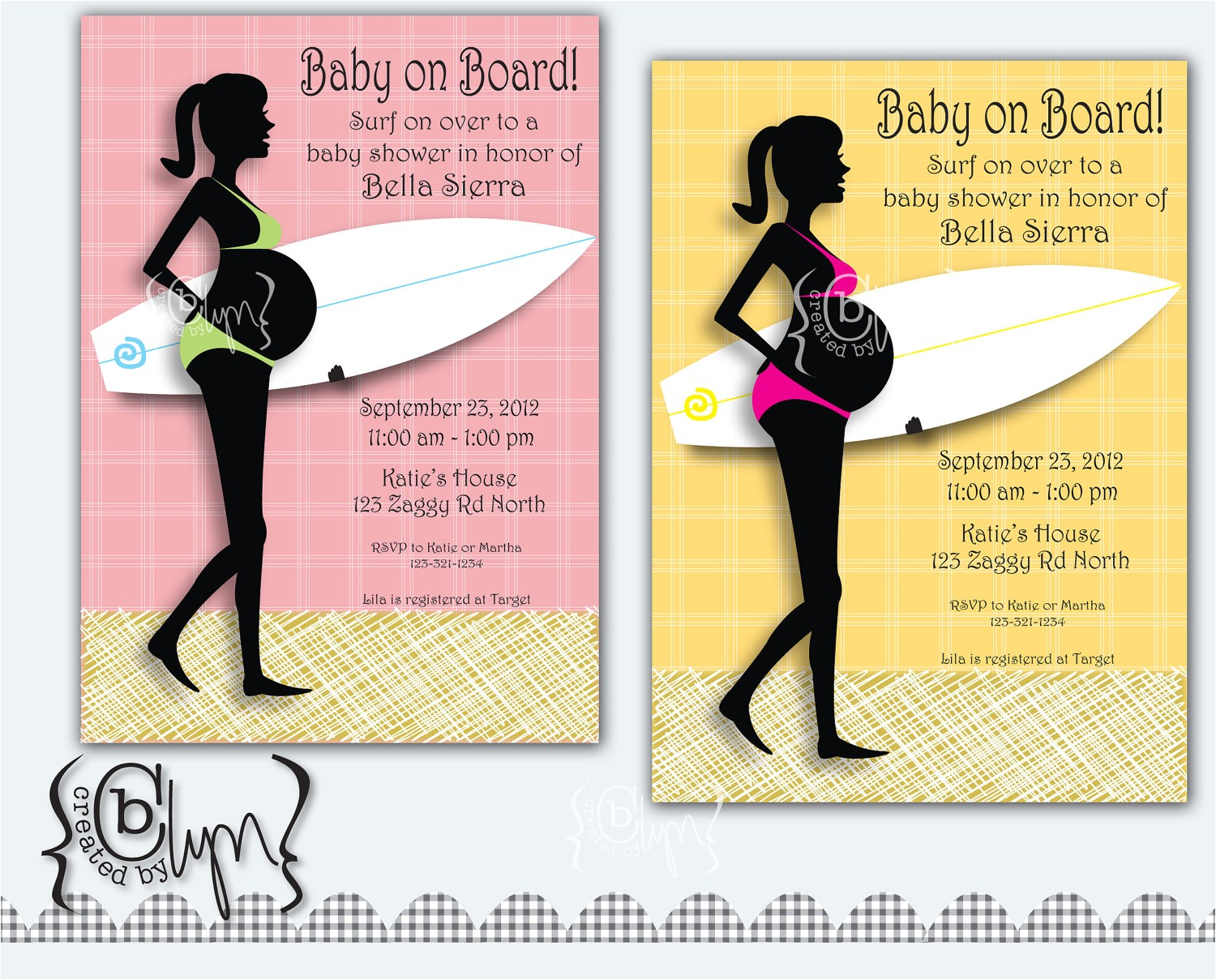 pregnant surfer girl baby shower