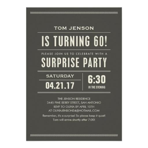 surprise 60th birthday invitations 161156634498762752