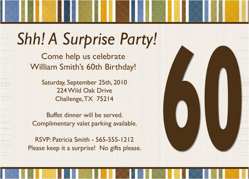 surprise birthday invitation wording template