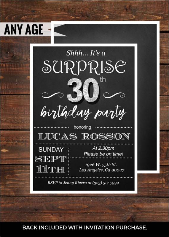 black pink 40th birthday invitation printable