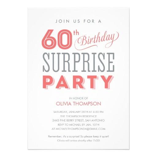 Surprise 60th Birthday Invitation Sayings 60th Surprise Birthday Invitations