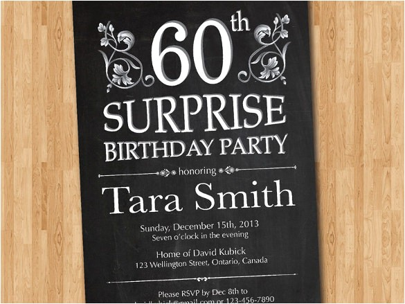 surprise birthday invitation