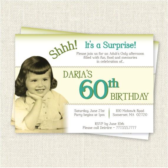 surprise 60th birthday invitation