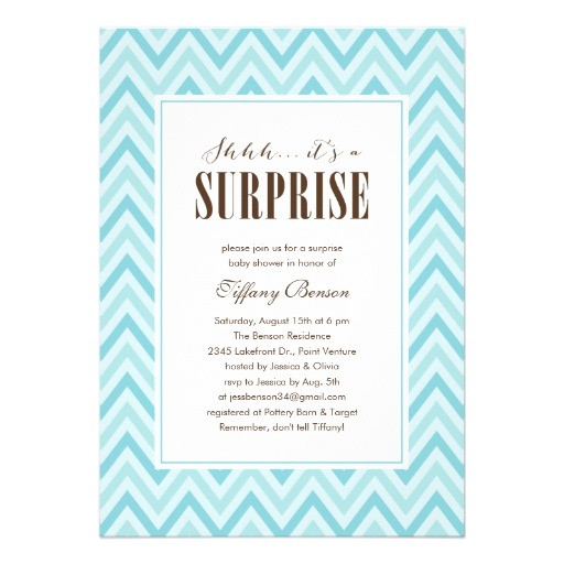 "Surprise Baby Shower Invites Surprise Baby Shower Invitations 5"" X 7"" Invitation Card"