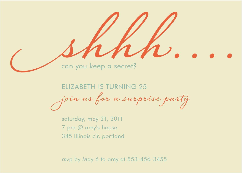 surprise birthday invitations sayings