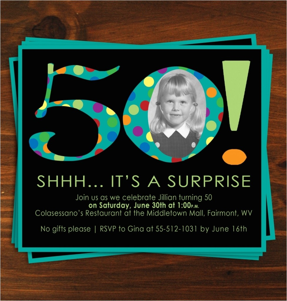 ideas for surprise 50th birthday invitations