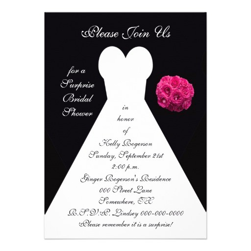 free surprise bridal shower invitations
