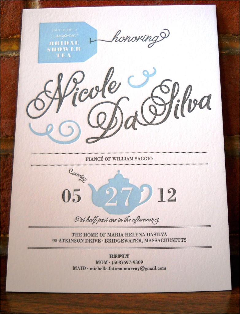 nicoles surprise bridal shower invitation