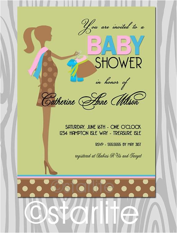 baby shower invitation gender neutral