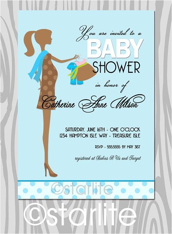 baby shower invitation gender surprise
