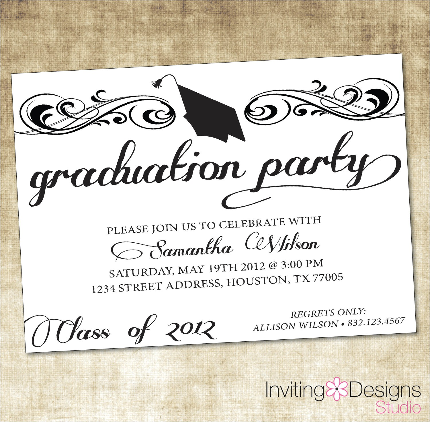 how to create grad party invitations