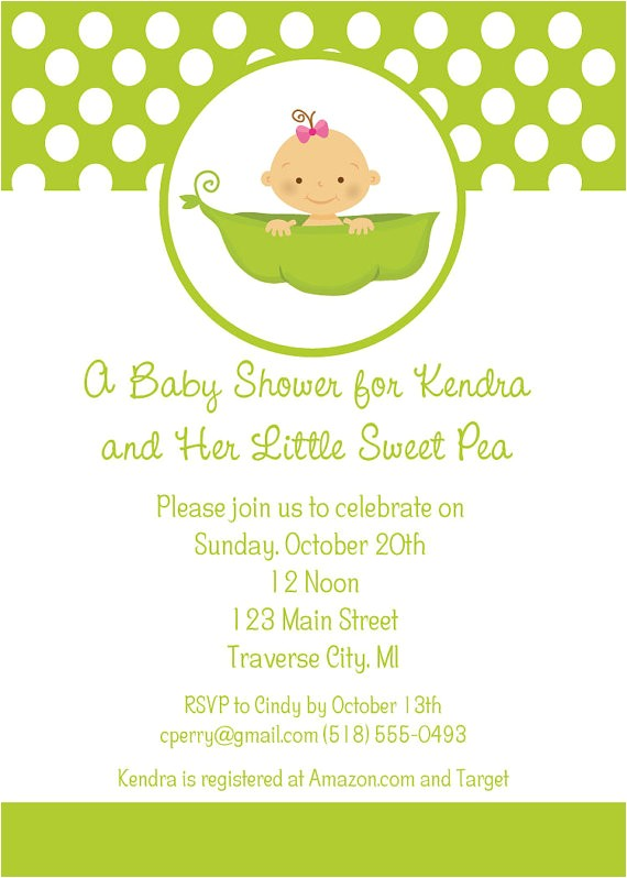 sweet pea baby shower invitations little