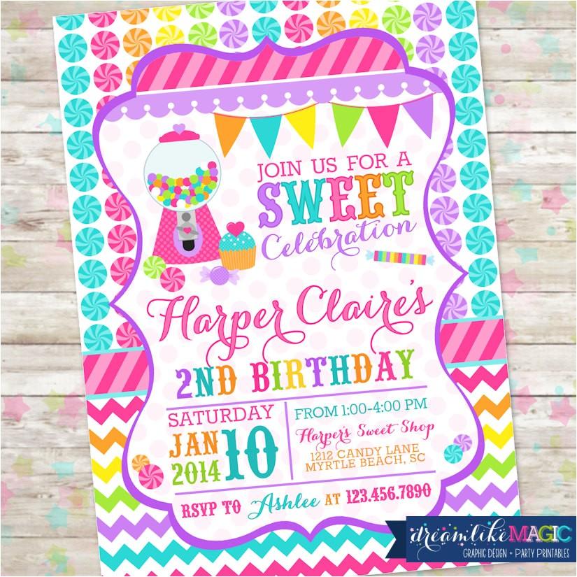 candyland invite sweet shoppe sweet shop
