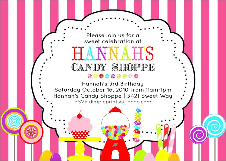 vintage candy shoppe invite