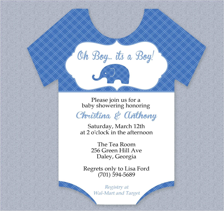 onesie invitations baby shower