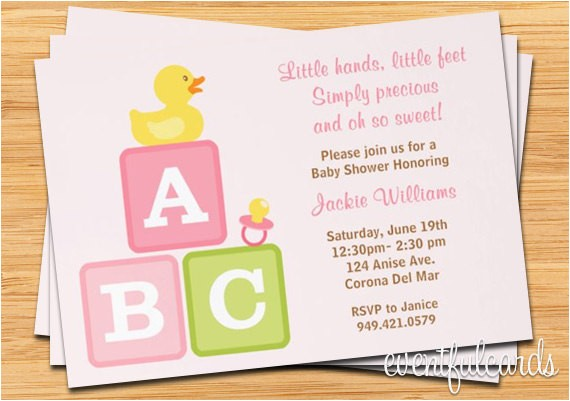tar baby shower invites